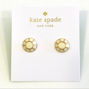 Kate Spade jewel bar earrings in cream